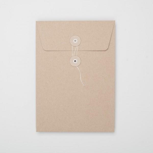 """Umschlag mit Kordel """"natur"""" C5 (10 Stück)"""