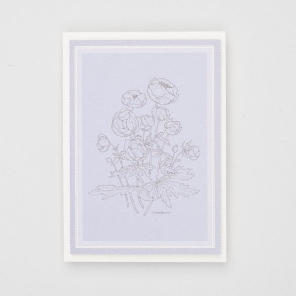 Klappkarte Globeflower