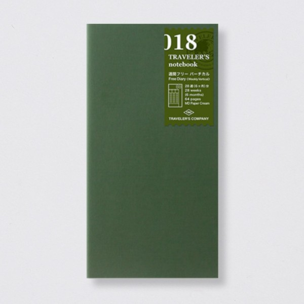 """Midori"" Traveler's Notebook Regular Einlage ""018"" Wochenplaner"