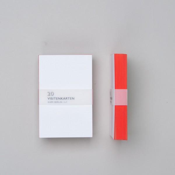 Kami Visitenkarten Mit Rotem Farbschnitt 20st