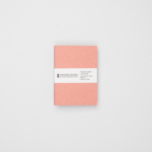STORE ONLY: Traveler's Factory Einlage Passport Kraftpapier rosa