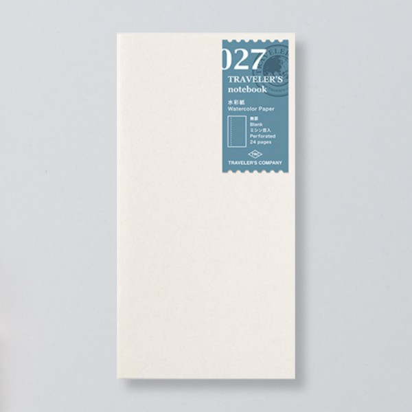 """Midori"" Traveler's Notebook Regular Size Refill ""027"" aquarell"