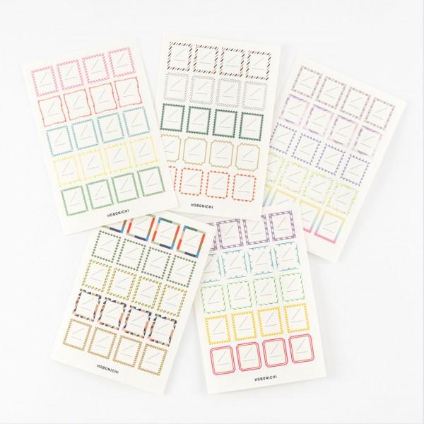 Hobonichi Etiketten Frame Stickers