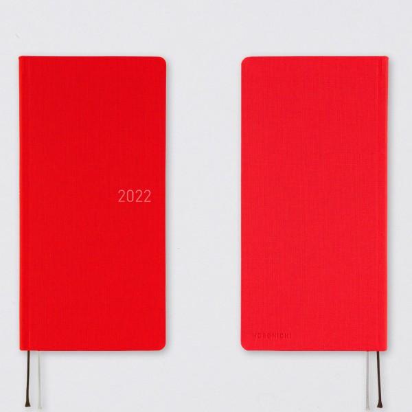 Hobonichi 2022 Kalender Weeks Mega Bright Red