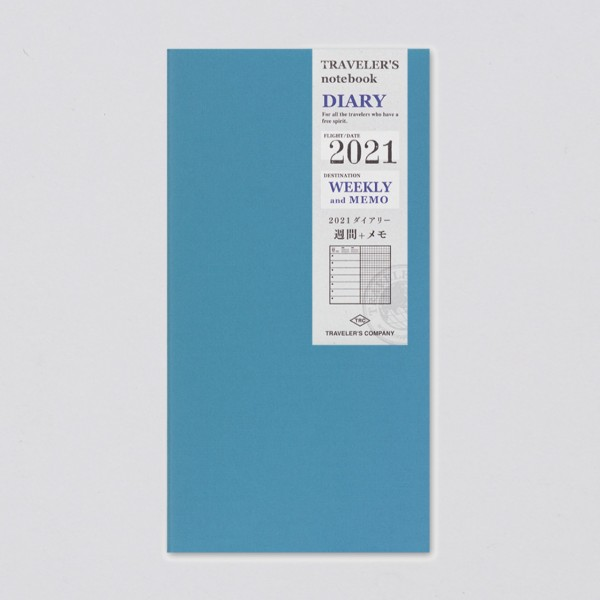 Traveler's Notebook 2021 Regular Wochenkalender + Memo