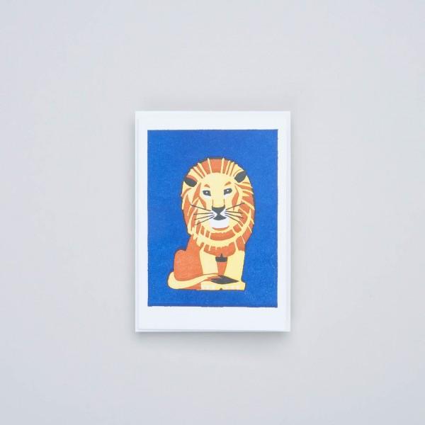 """Archivist Letterpress Klappkarte """"Lion"""""""