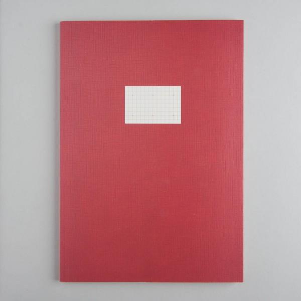 Paperways Notizheft A4 - kariert in zinnober rot