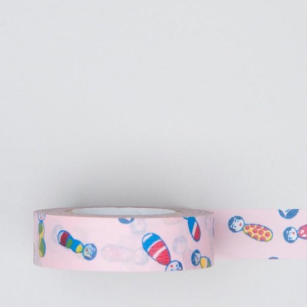 "Masking Tape ""Kokeshi"" rosa"