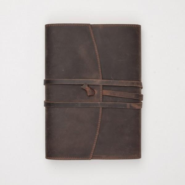 """Papoutsi Notizbuch """"Poet II"""" aus braunem High Chaparral Leder zum Wechseln"""