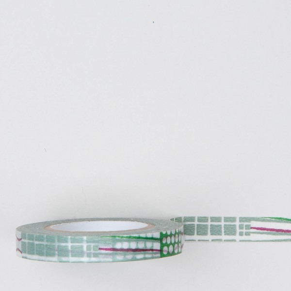 Masking Tape Mustermix grün schmal