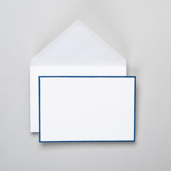 Umschlag handgerändert in blau klein