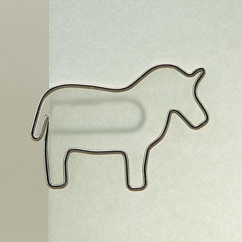 "D-Clip Stahlbüroklammer ""Pferd"" (30 St.)"