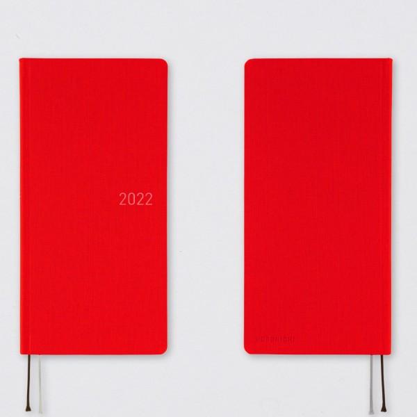 Hobonichi 2022 Kalender Weeks Bright Red