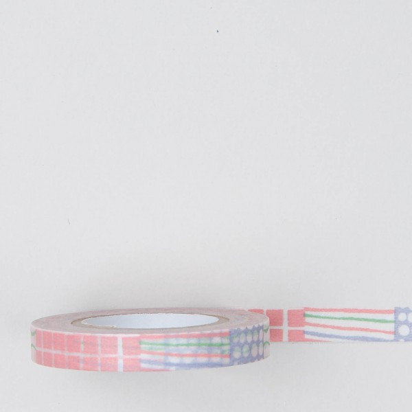Masking Tape Mustermix rosa schmal