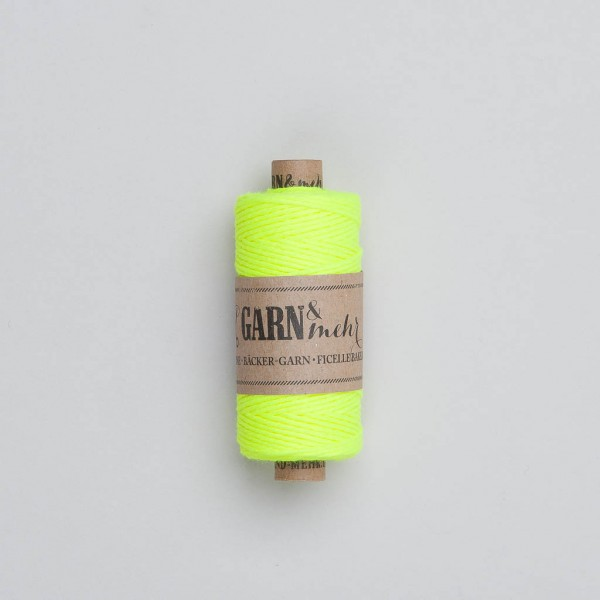 Garn & Mehr Bakers Twine in neon gelb