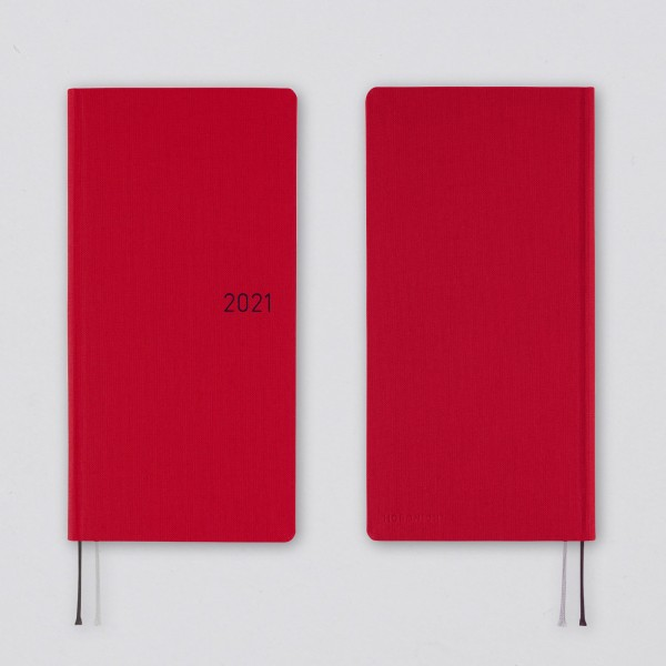Hobonichi 2021 Kalender Weeks Mega Colors: Deep Red