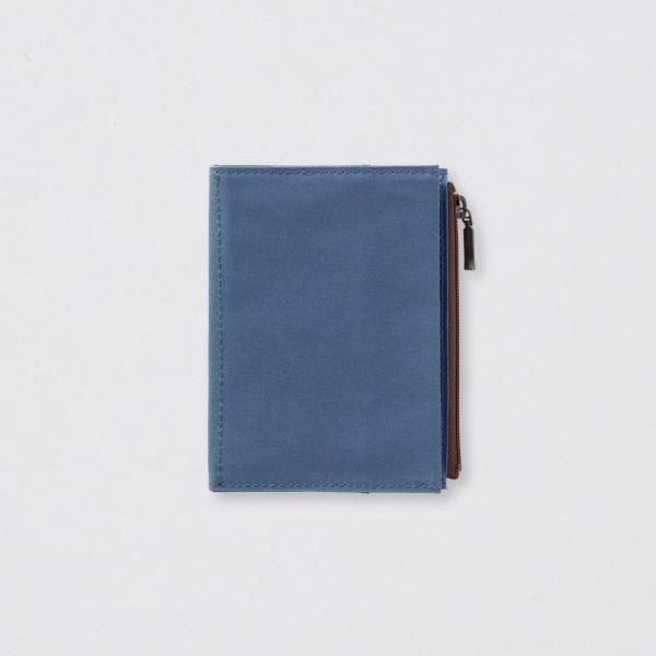 """TRC """"B-Sides & Rarities"""" Zipper Case Passport Baumwolle blue"""