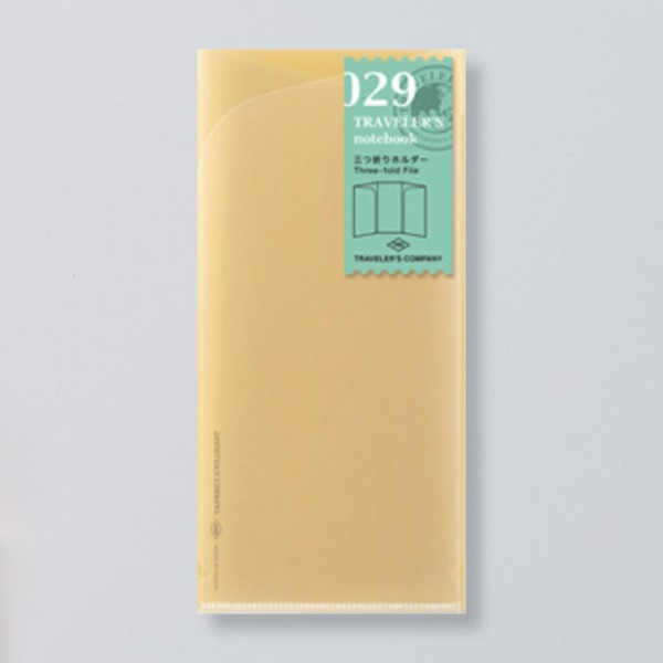 """Midori"" Traveler's Notebook Regular Size Refill ""029"" Faltkarte"
