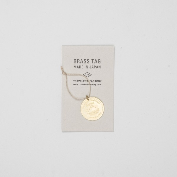 STORE ONLY: Traveler's Factory Brass Tag Japan Trip aus Messing