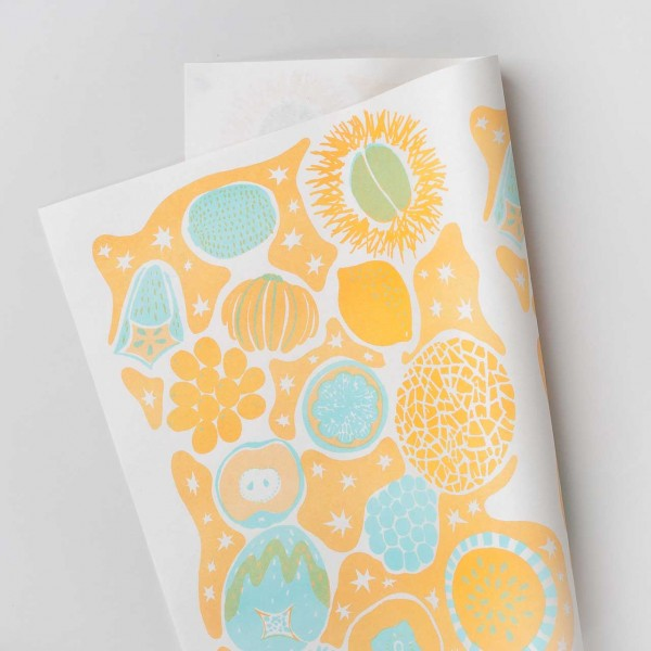 "Riso Geschenkpapier ""Fruits"" yellow"