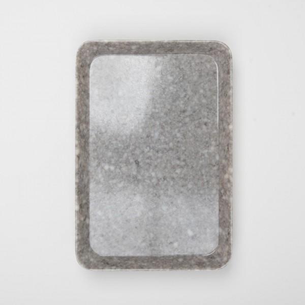 Melamin mittleres Tablett grau