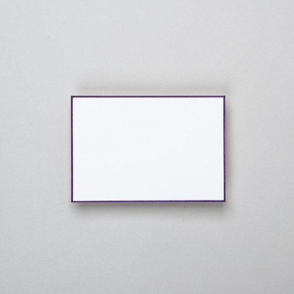 Karte handgerändert in lavendel groß