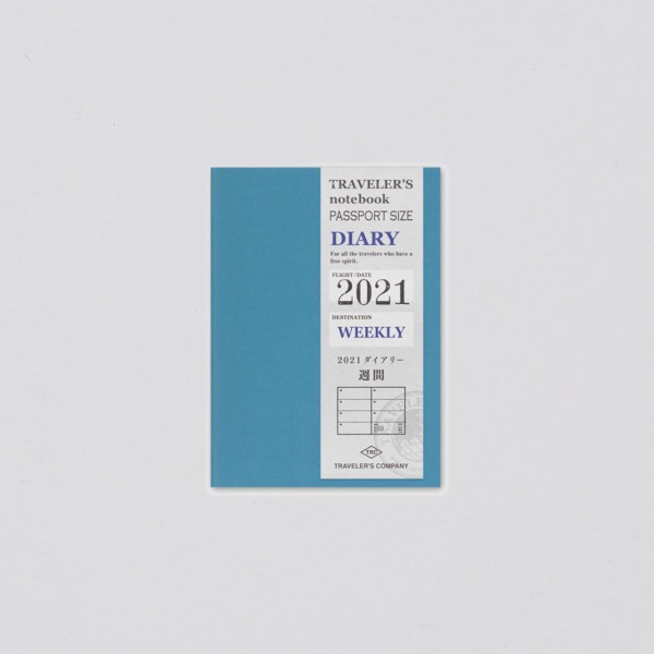Traveler's Notebook 2021 Passport Wochenkalender