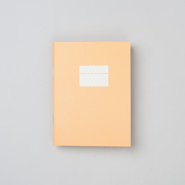 Paperways Notizheft klein in gelb mit Wabenmuster und rotem Strich