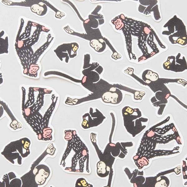 """Japanische Aufkleber """"Schimpansen"""""""