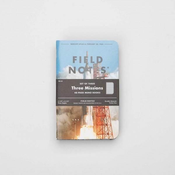 "Field Notes Notizbücher 3er Pack ""Three Missions"""