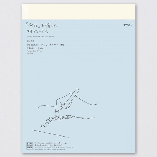 Midori Tagebuch 2022 MD Diary Thin kariert (A4)