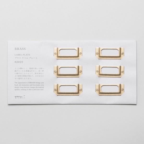 Midori Etikettenhalter aus Messing