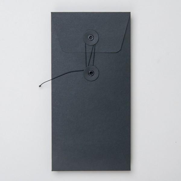 """Umschlag mit Kordel """"schwarz"""" DL"""