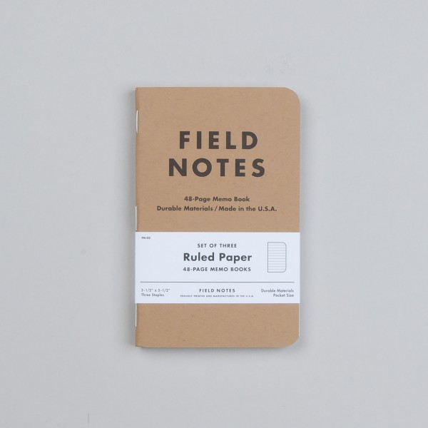 Fieldnotes Notizbuch liniert