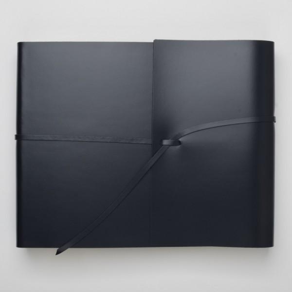 Pinetti Fotoalbum Kalbsleder blau groß