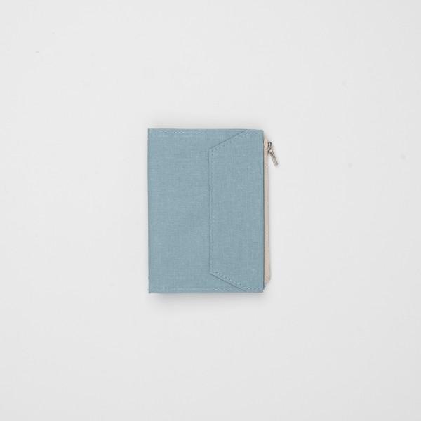 STORE ONLY: Traveler's Factory Zipper Case Passport Stoff sky blue