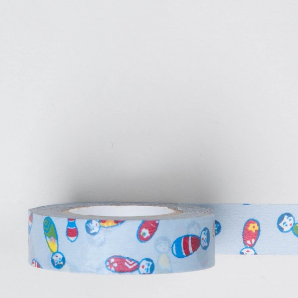 "Masking Tape ""Kokeshi"" blau"
