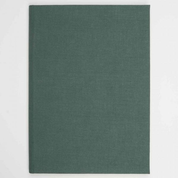 Berliner Notizbuch aus Leinen grün (A4)